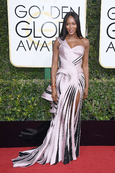 Golden Globe 2017 - Naomi Campbell - Atelier Versace