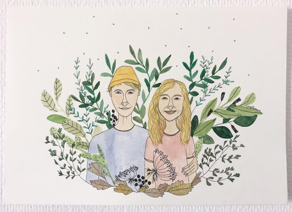 Hanna Pajor Illustration páros kép ajándék