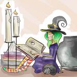 inktober 2018 boszorkány illusztráció