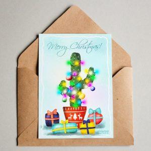 Karácsonyi képeslap kaktusz imádóknak / Christmas card download