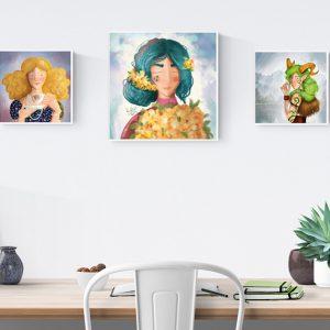 Dobd fel lakásod színes illusztrációkkal! (Ingyenes képek is)