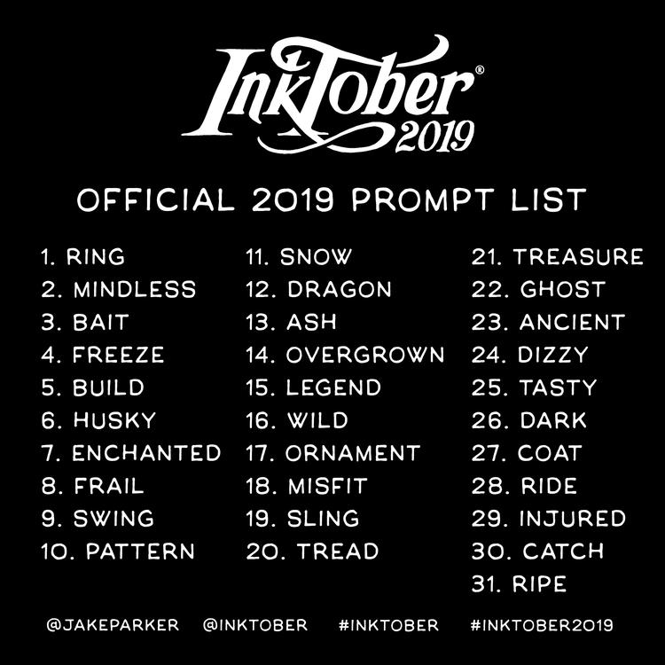 inktober 2019 lista