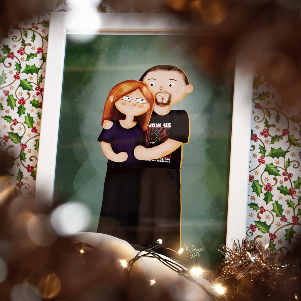 karácsonyi ajándék portré
