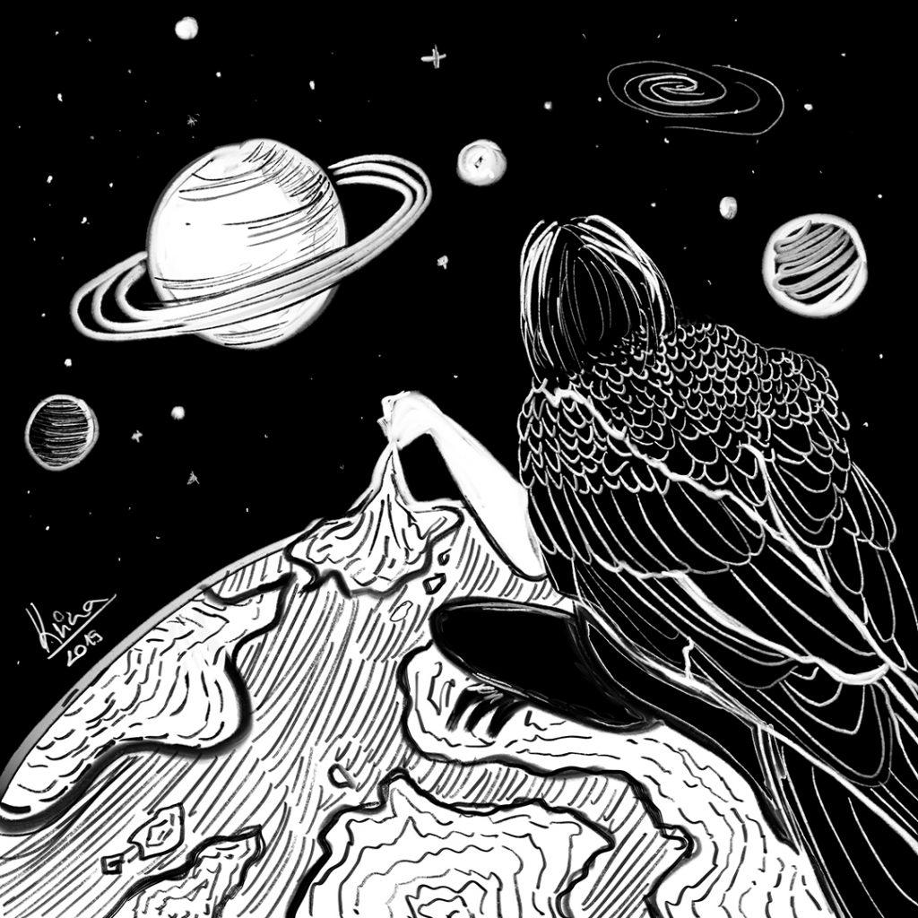 univerzum illusztráció