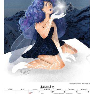 2020 egyedi naptár január