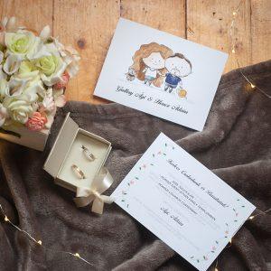 Esküvői meghívó házilag, egy kis extrával