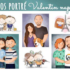 Lepd meg párod rajzolt portréval! - Valentin napi ajándék ötlet