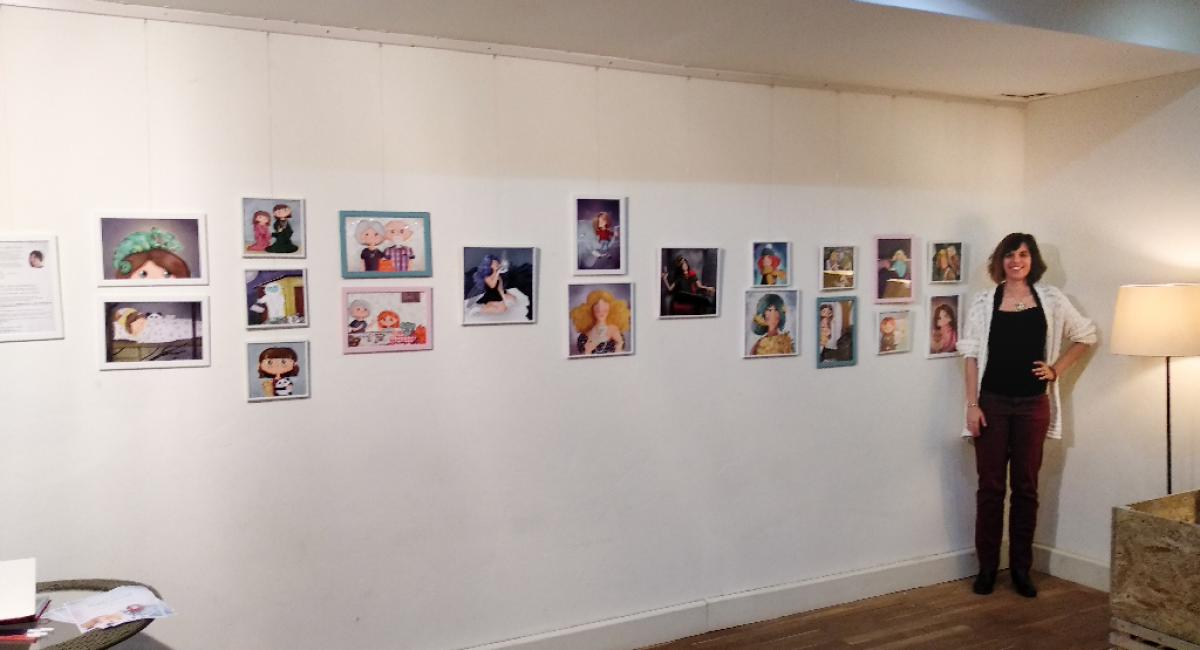 Gallay-Nagy Krisztina grafikus illusztrátor kiállítása